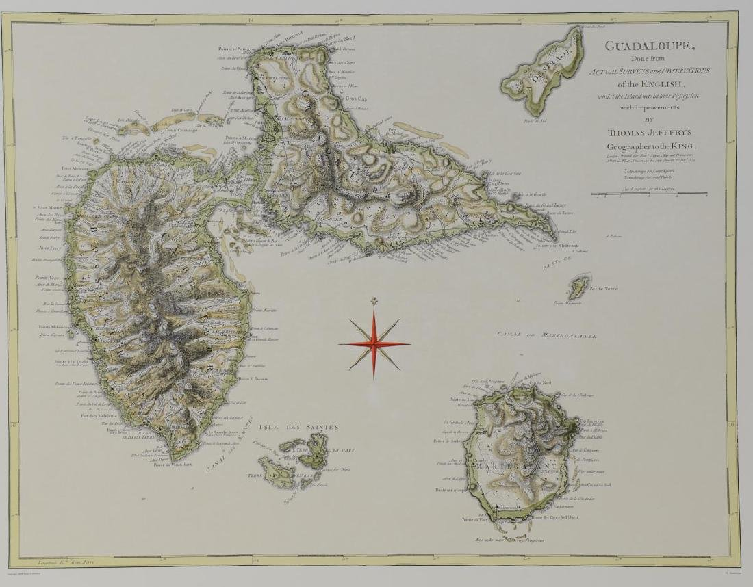 Early Map of Guadaloupe