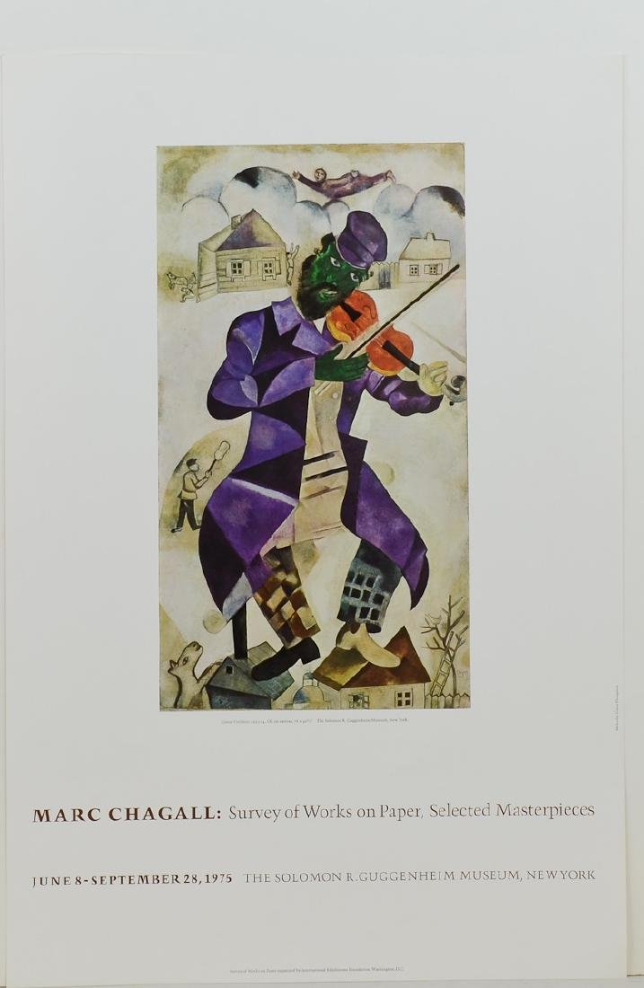 Marc Chagall Green Violinist Poster
