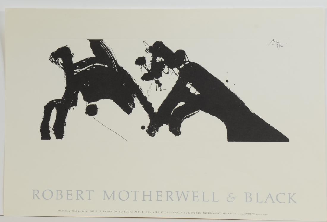 Robert Motherwell & Black Poster