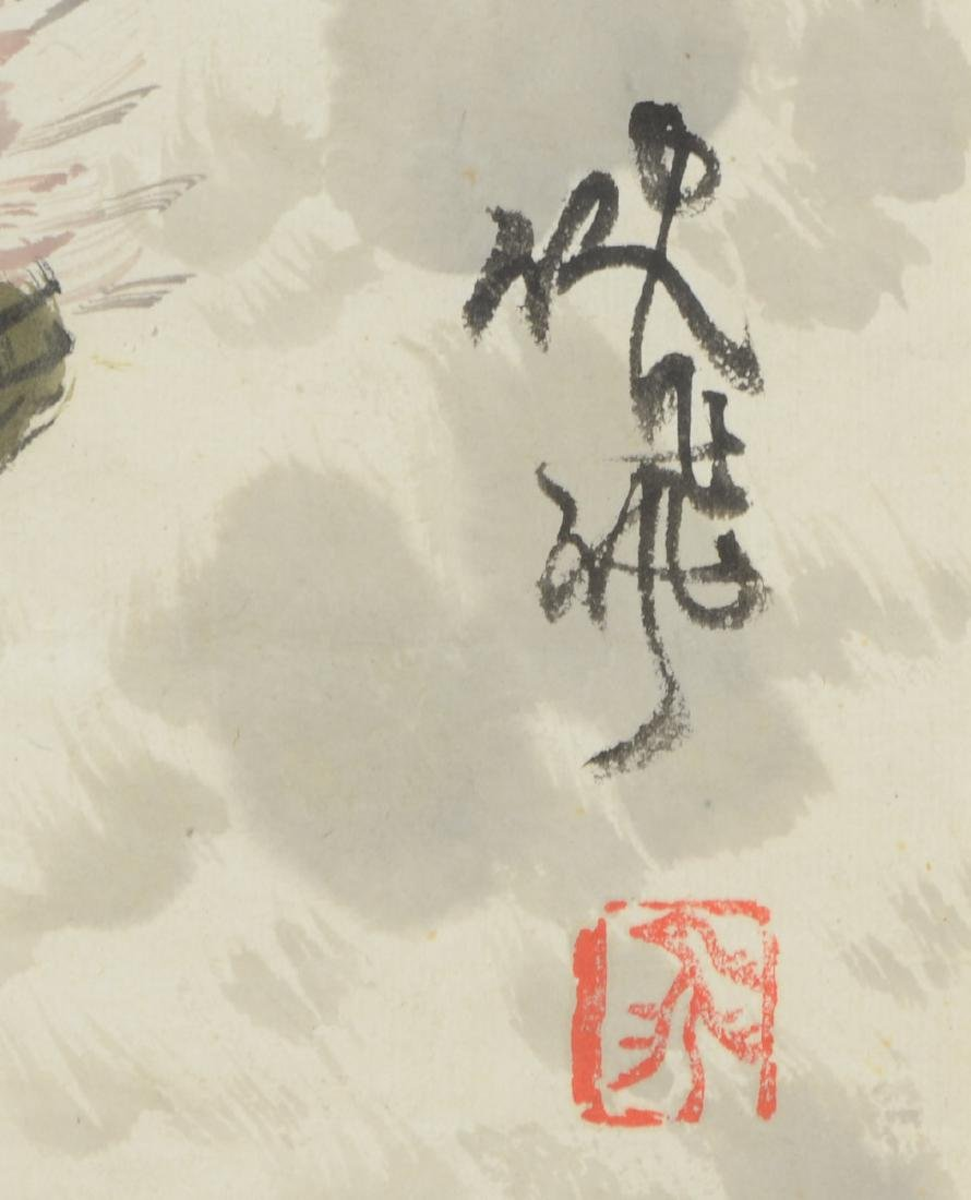 Chinese Watercolor Painting of Roosters - 3