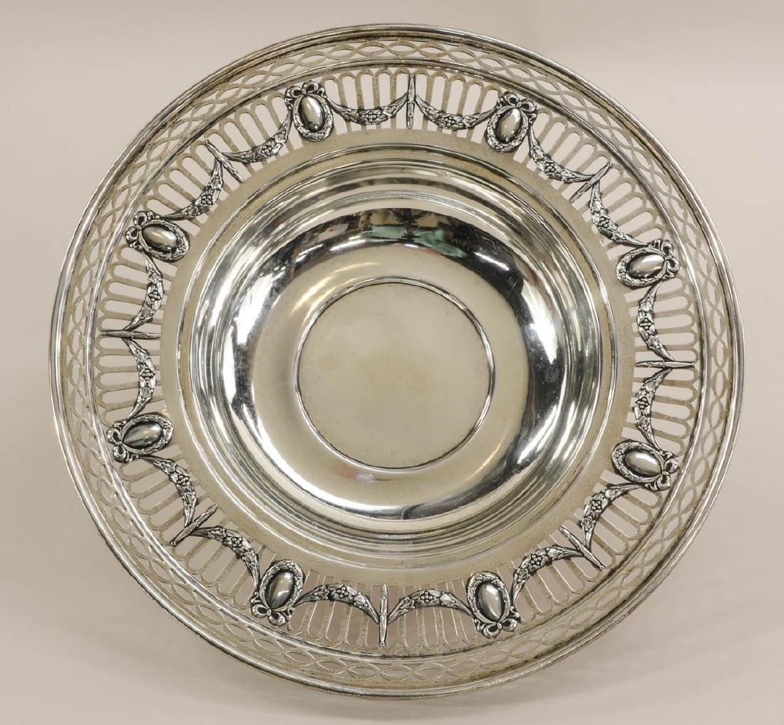Two Sterling Silver Footed Plates - 2