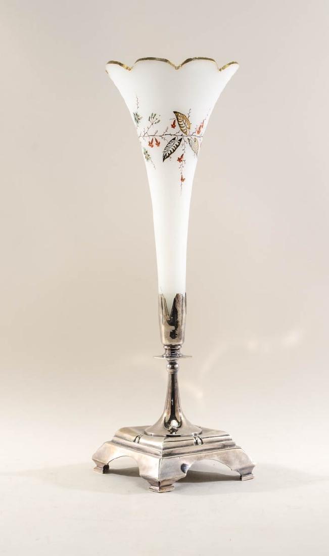 Meriden Britannia Silverplate Trumpet Vase