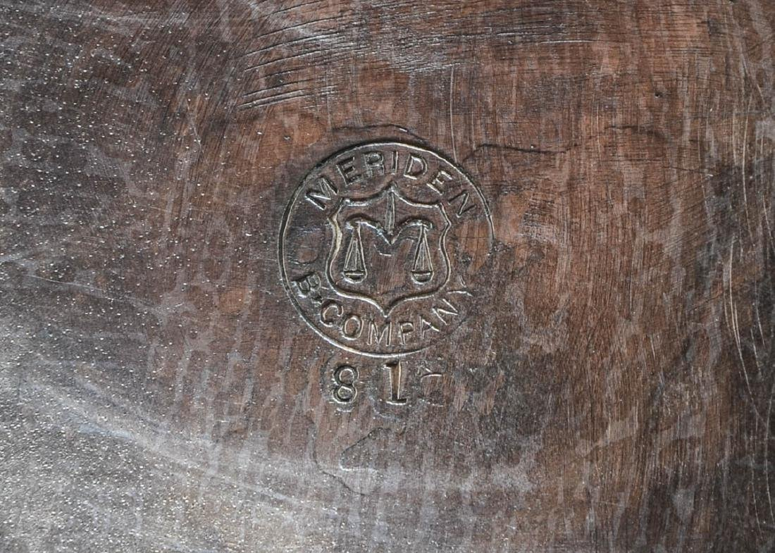 Meriden Britannia Silverplate Trumpet Vase - 3