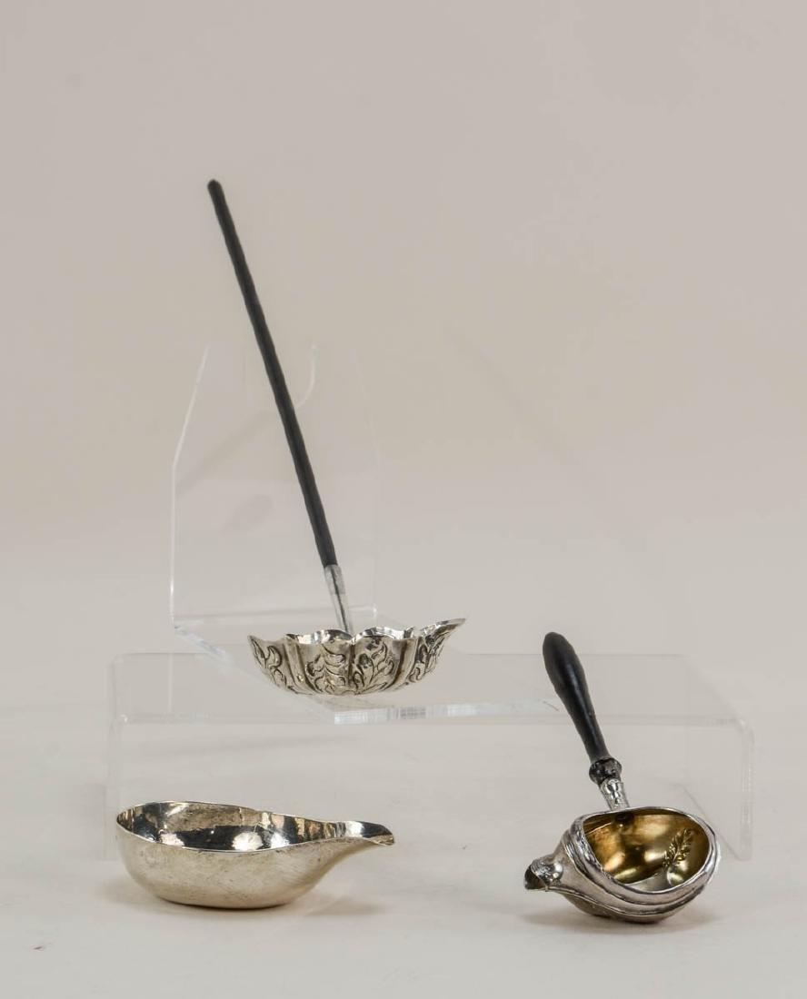 Three Antique Silver Invalid Feeders