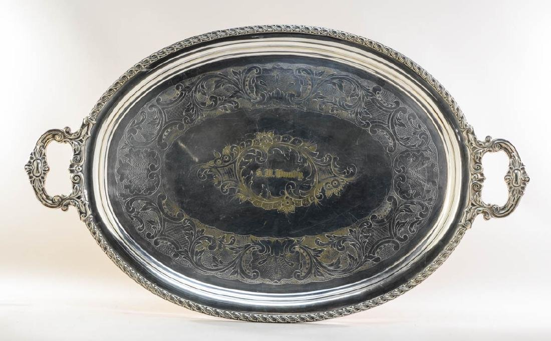 Large Antique Silverplate Tray