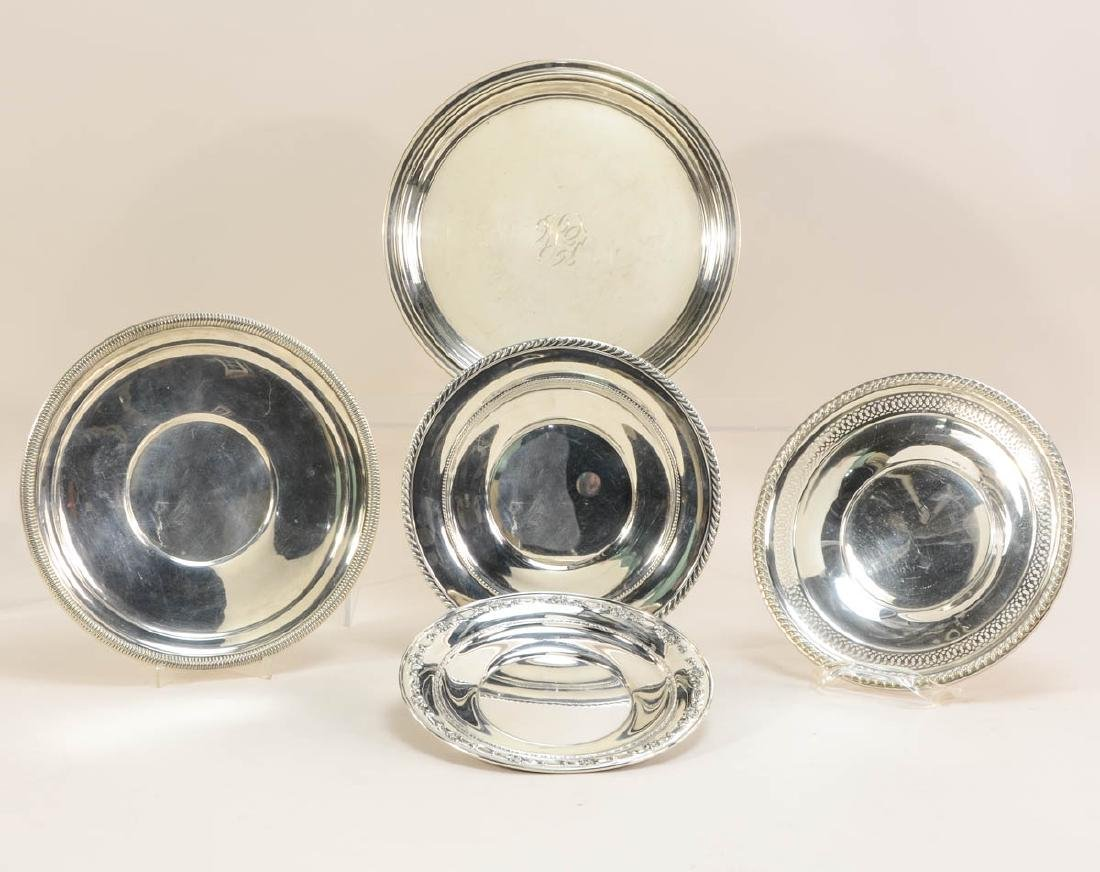 Five Sterling Silver Plates - 2