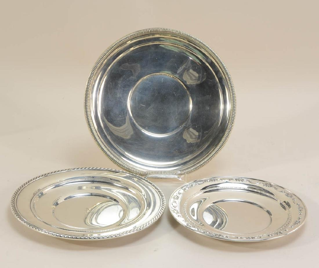 Five Sterling Silver Plates - 3