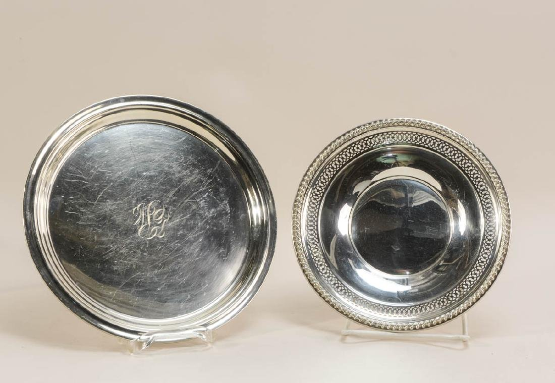 Five Sterling Silver Plates - 5