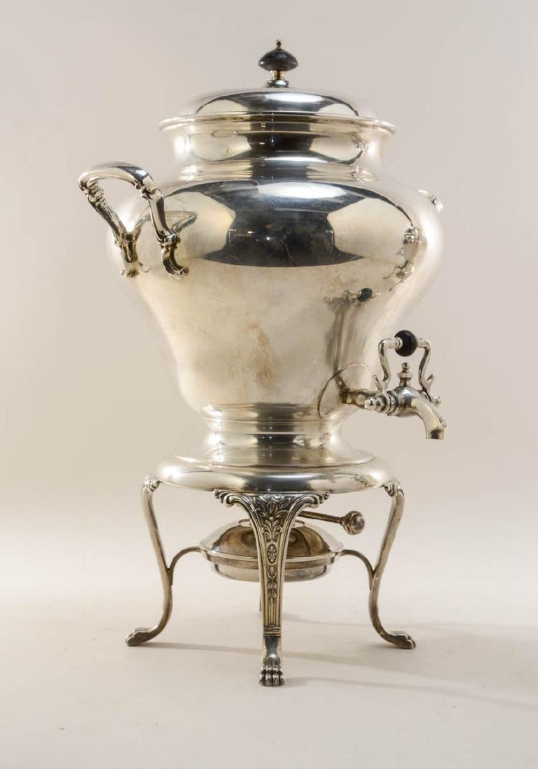 Two Large Silverplate Hot Water Urns - 2