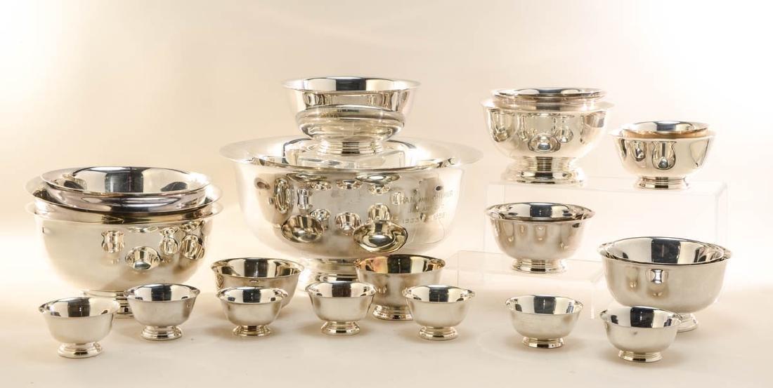 24 Paul Revere Silverplate Bowls