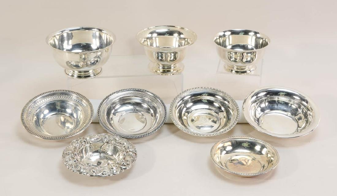 9 Sterling Silver Bowls