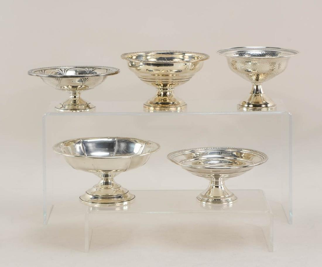 Sterling Silver pedestal Dishes - 3