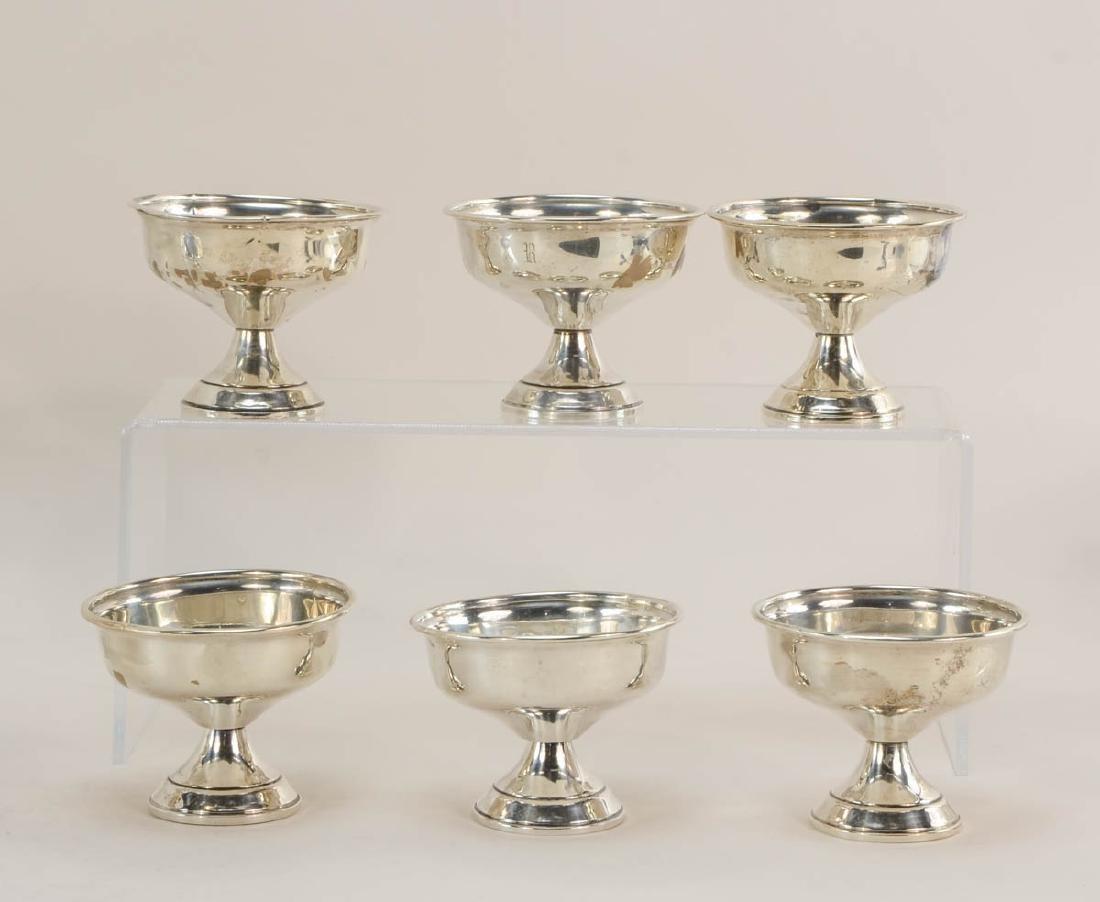 Sterling Silver pedestal Dishes - 4