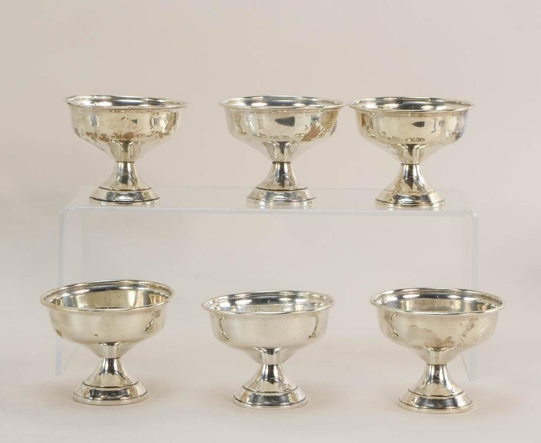 Sterling Silver pedestal Dishes - 4
