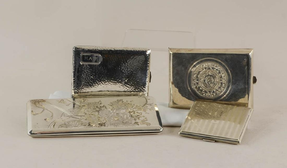 Four Sterling Silver Cigarette Cases