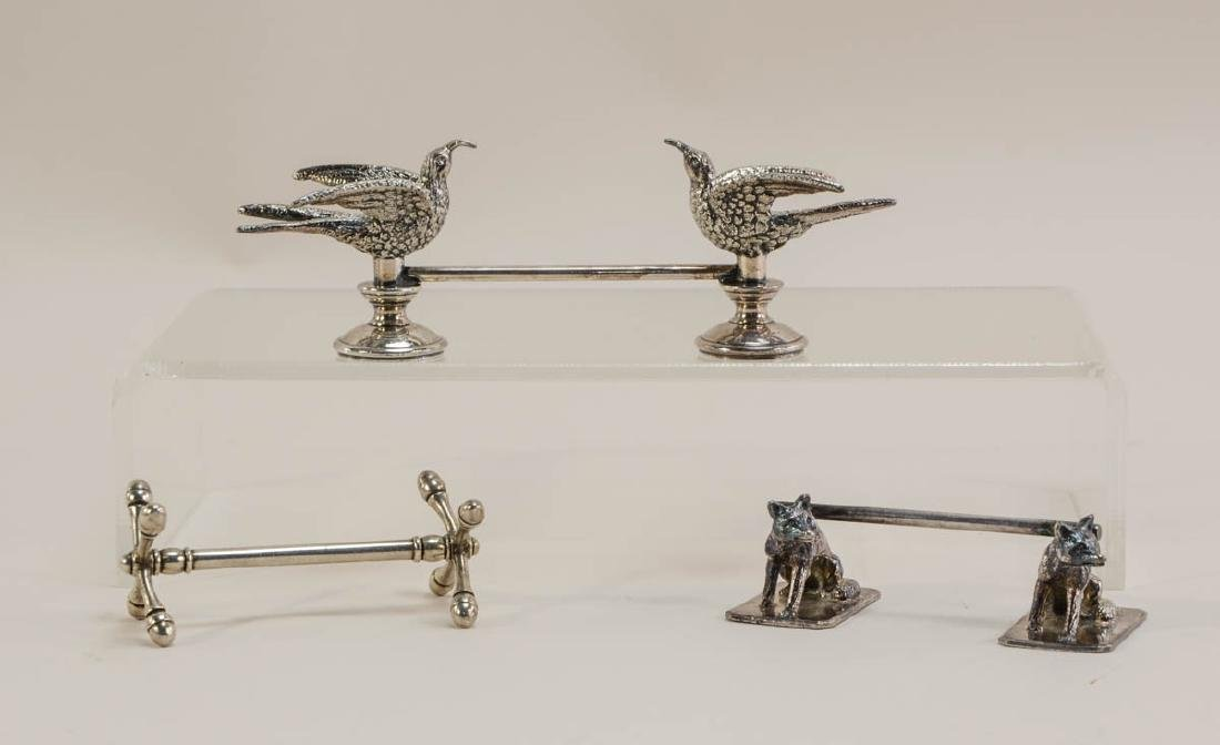 Three antique figural Knife Rests