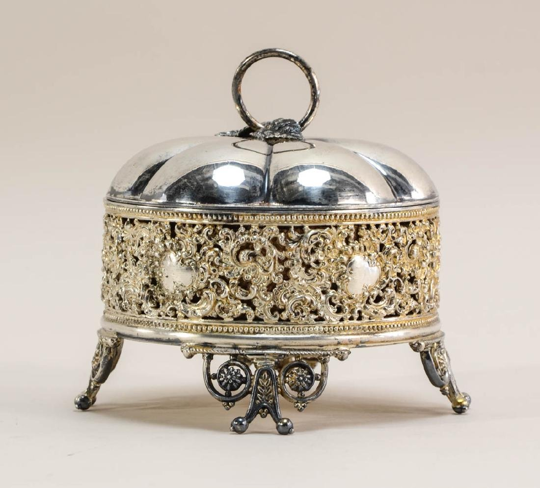 Meriden Britannia Silverplate Jewel Casket
