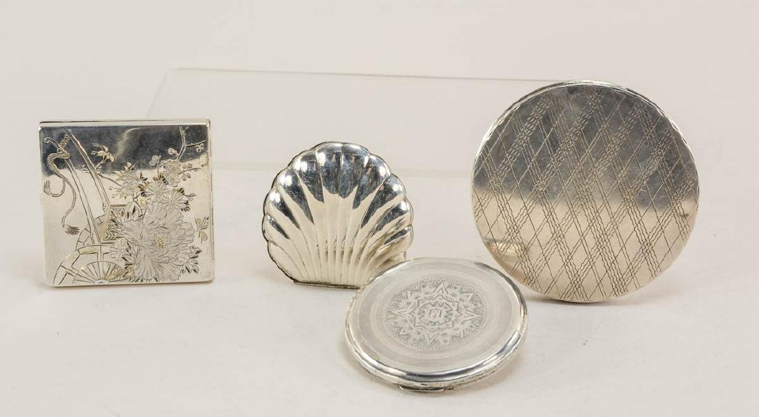 Four Sterling Silver Compacts