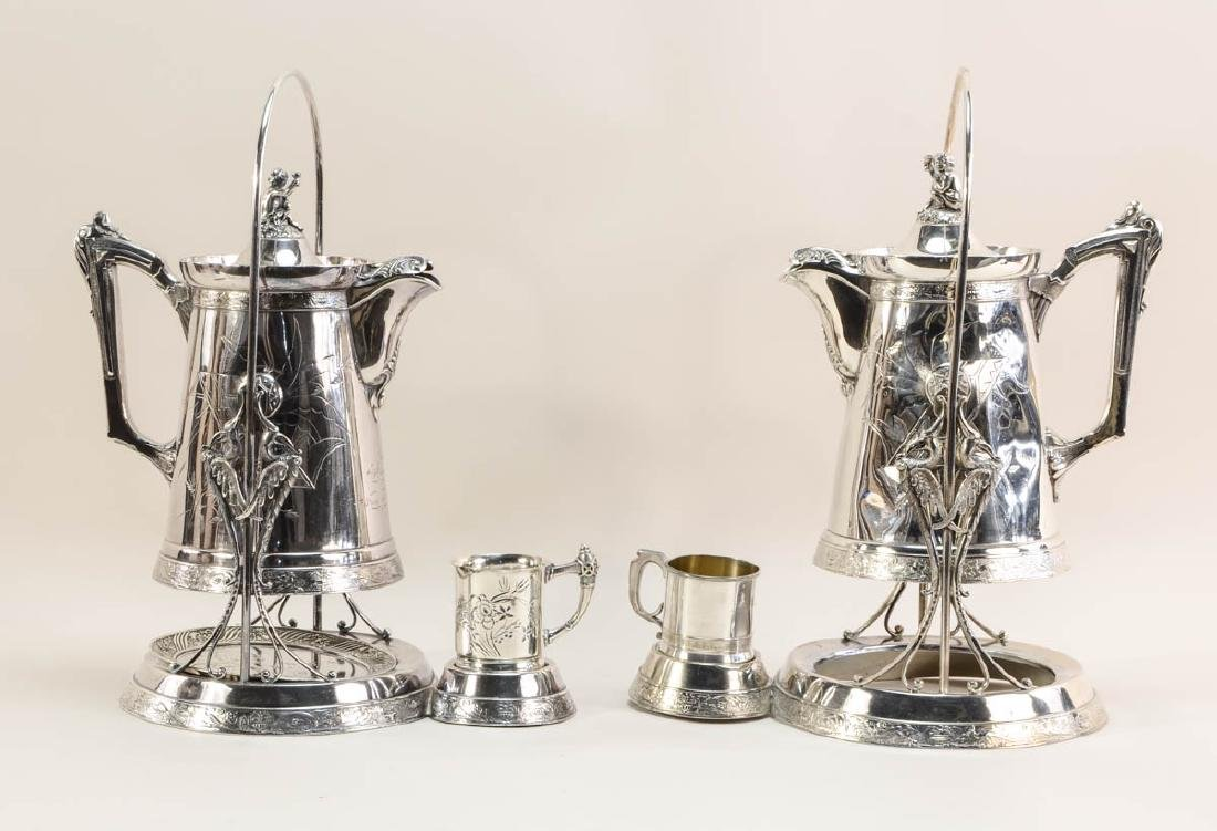 Two Silverplate Ice Water Pitchers