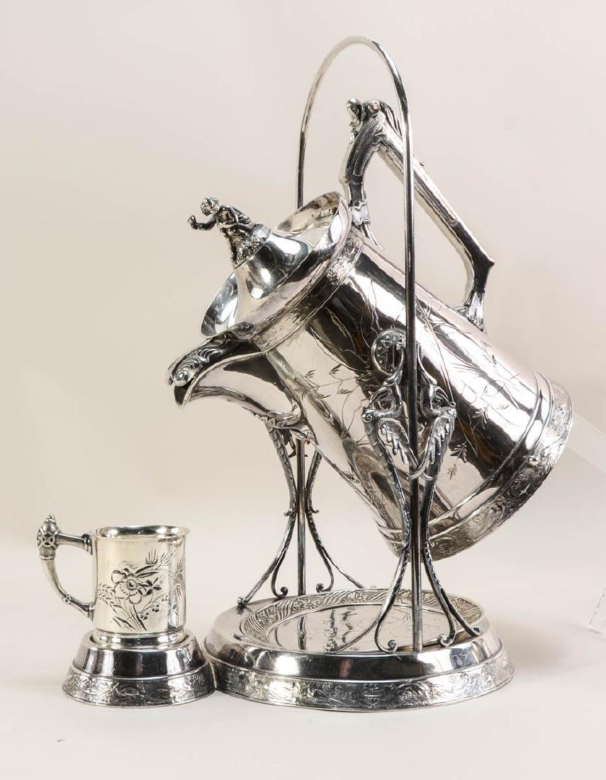 Two Silverplate Ice Water Pitchers - 4