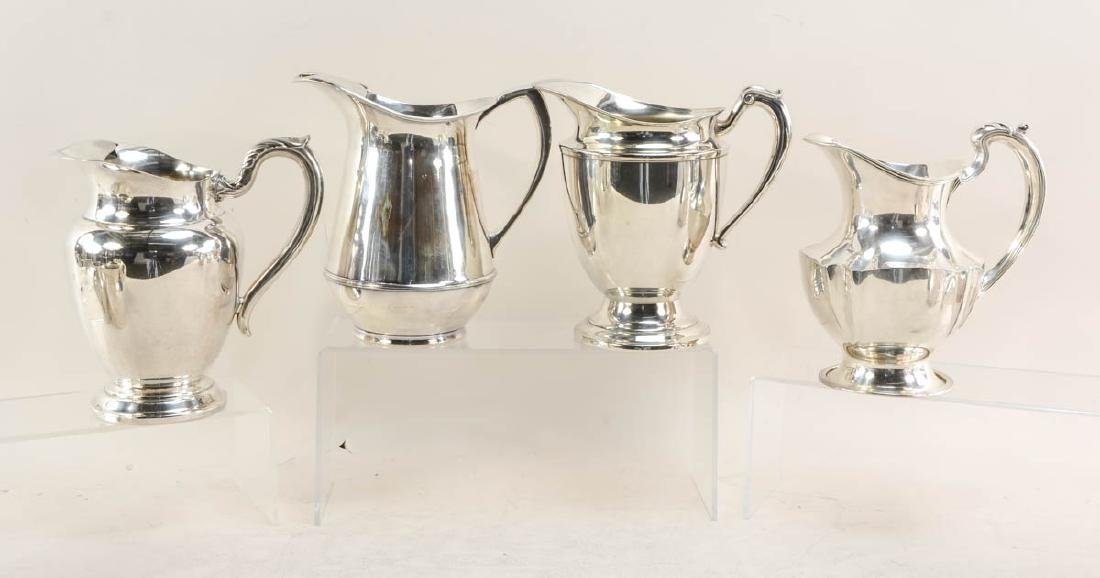 11 silver plate pitchers - 2