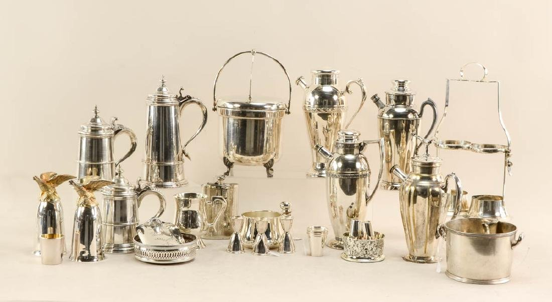 Silverplate Barware group