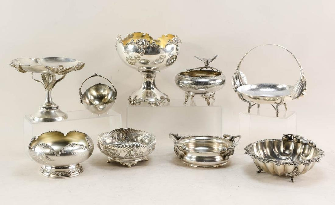 9 Pcs Figural Silverplate