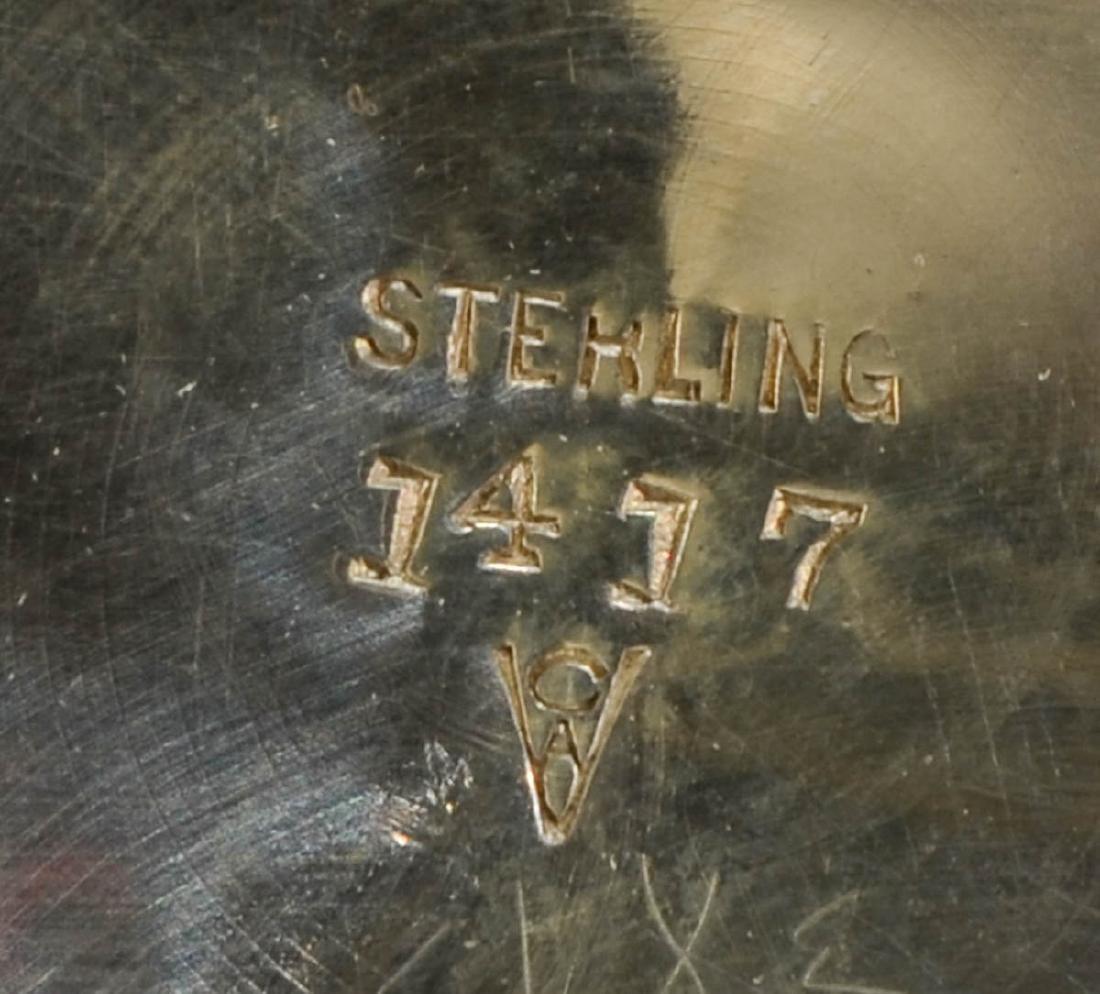 Five Sterling Silver Trumpet Vases - 5