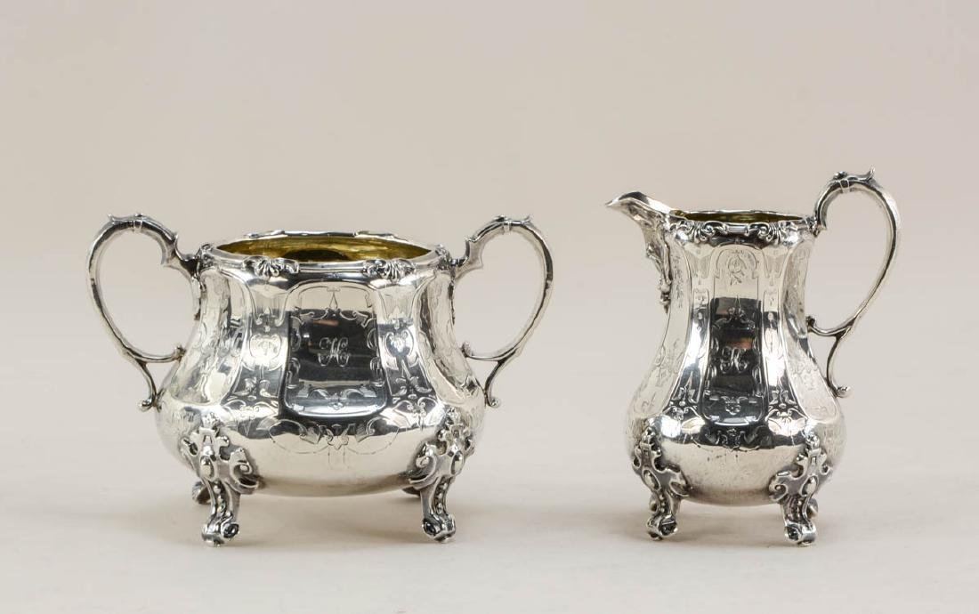 English Sterling Silver Sugar and Creamer