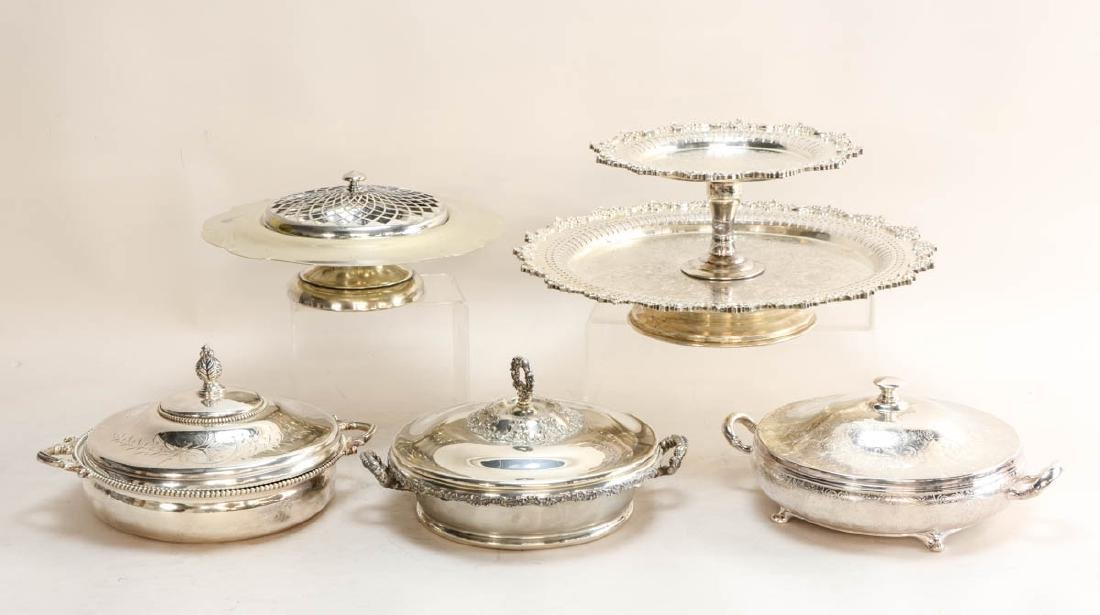 Large Group of  silver plate serving pieces