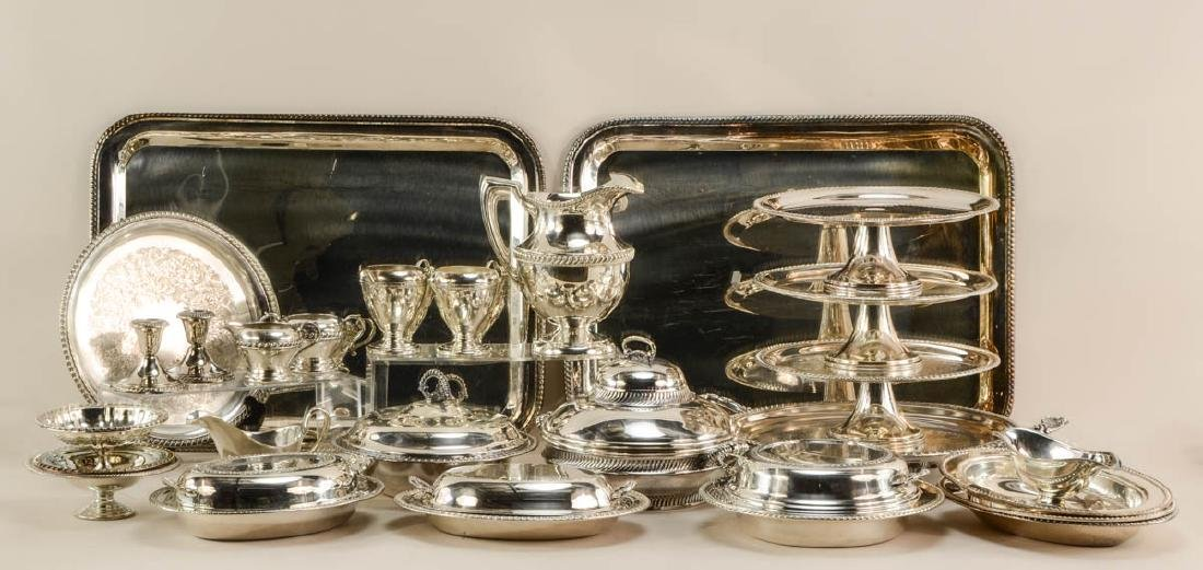 Group of 20th Century silver plate