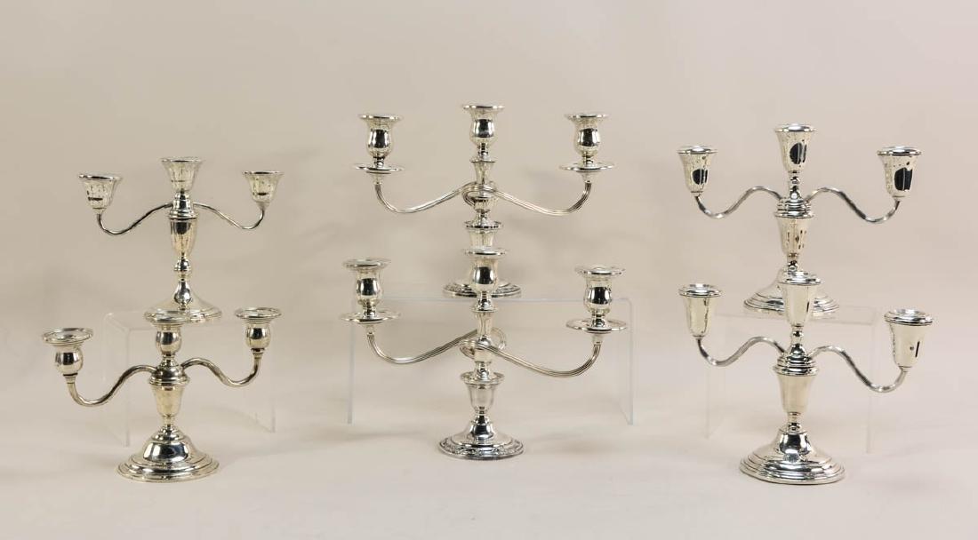 Six pcs Sterling Silver Candelabra