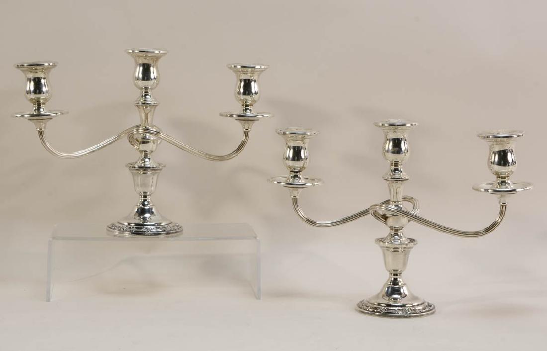 Six pcs Sterling Silver Candelabra - 2