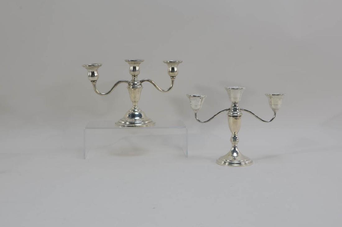 Six pcs Sterling Silver Candelabra - 6