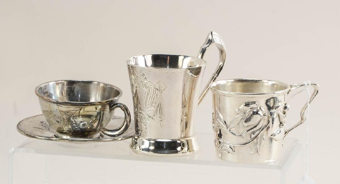 Silver plate cups and beakers - 3
