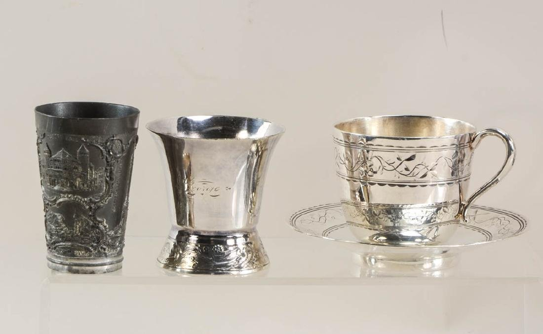 Silver plate cups and beakers - 4