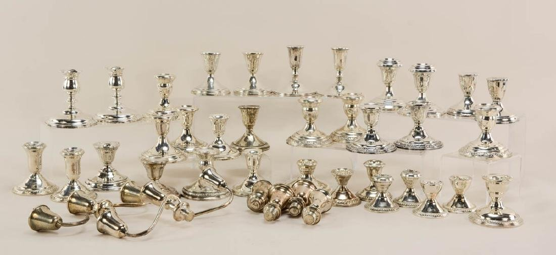 40 Sterling Silver Candlesticks