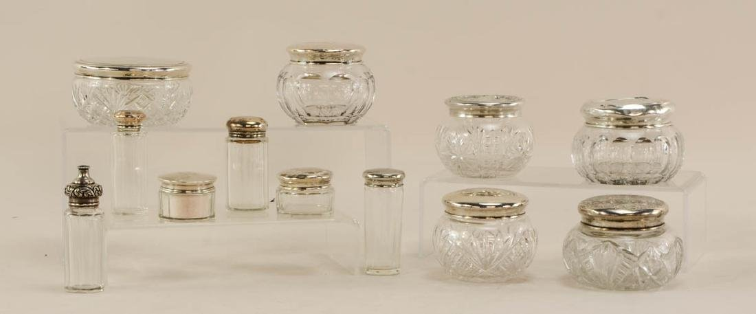 12 Sterling Dresser Jars etc.