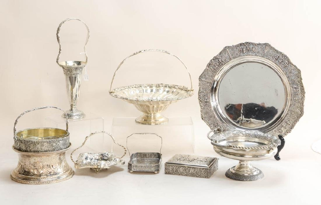 Large Group of Antique Silverplate