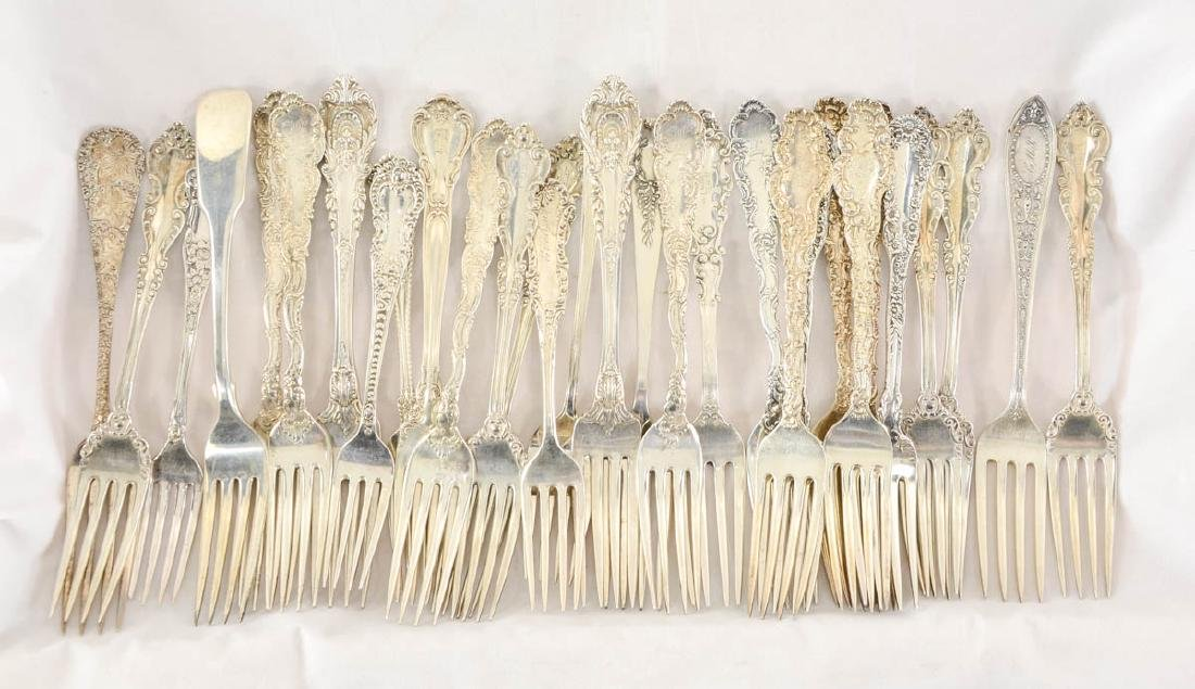 Mixed Sterling Silver Forks