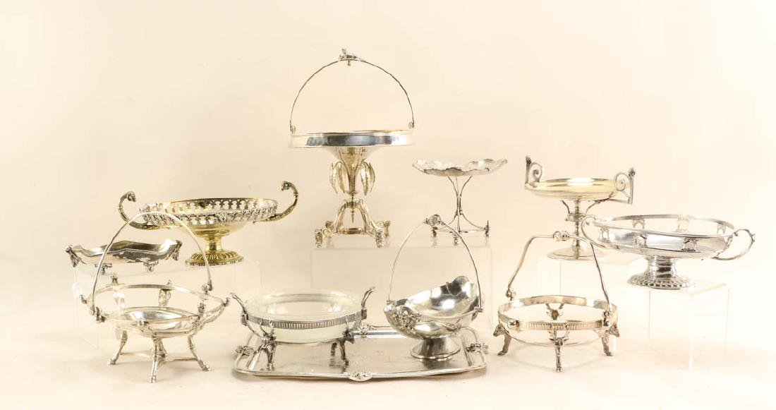 11 figural silver plate items