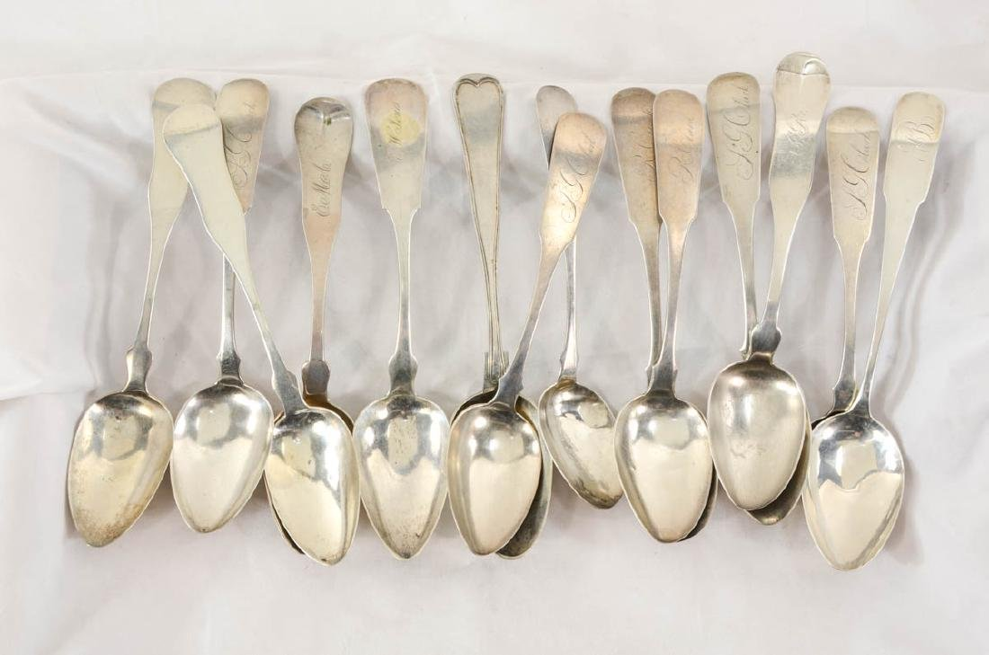 Group of Coin Silver Spoons