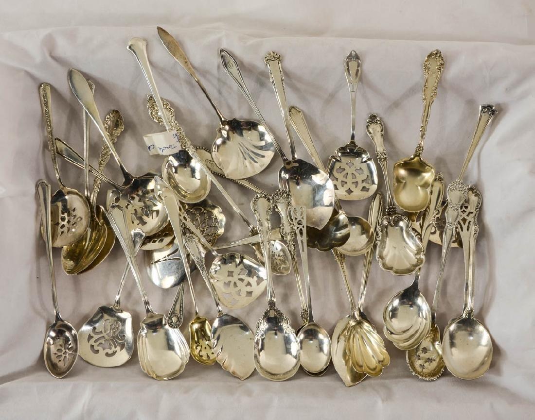 Fancy Sterling Serving Spoons