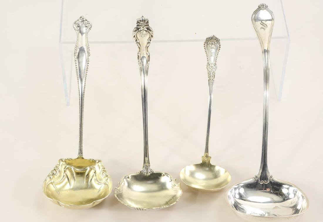 Four Sterling Silver Serving Ladles