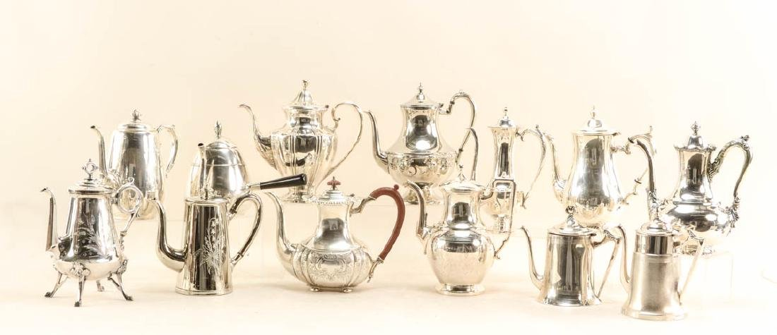 30 silver plate coffee pots