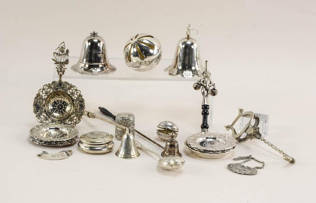 Group of silver plate smalls