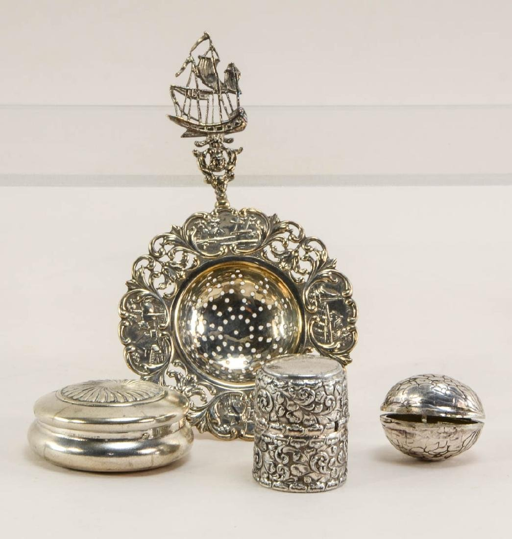 Group of silver plate smalls - 3