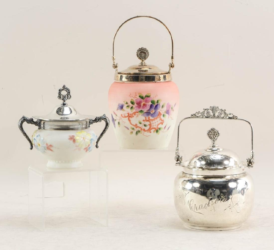 Three Antique Cracker Jars