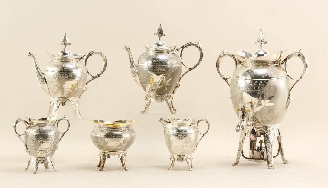 Rogers Victorian Aesthetic Tea Service