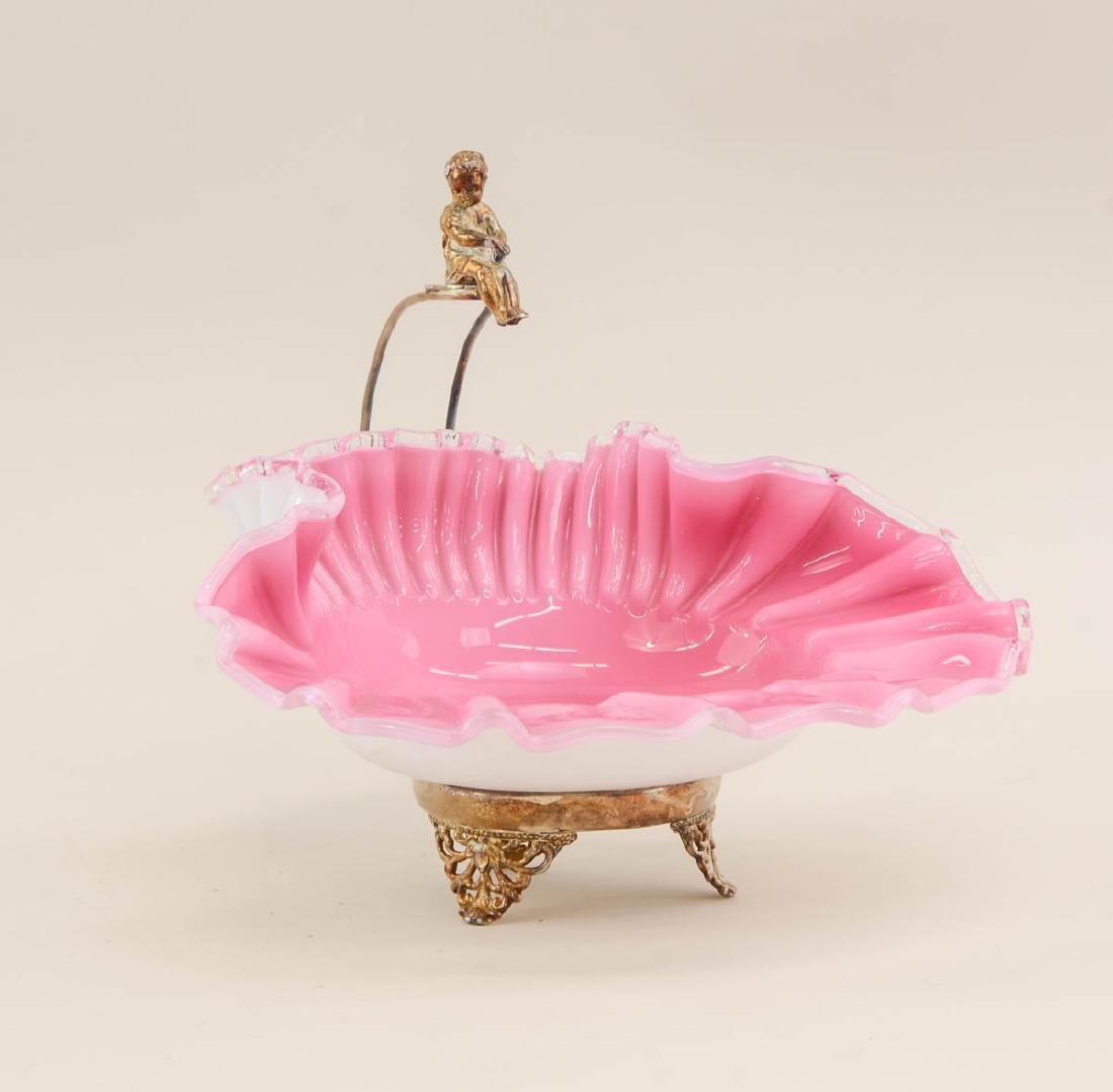 Victorian Figural Brides Basket